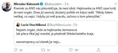 Miroslav Kalousek varuje Andrej Babiše