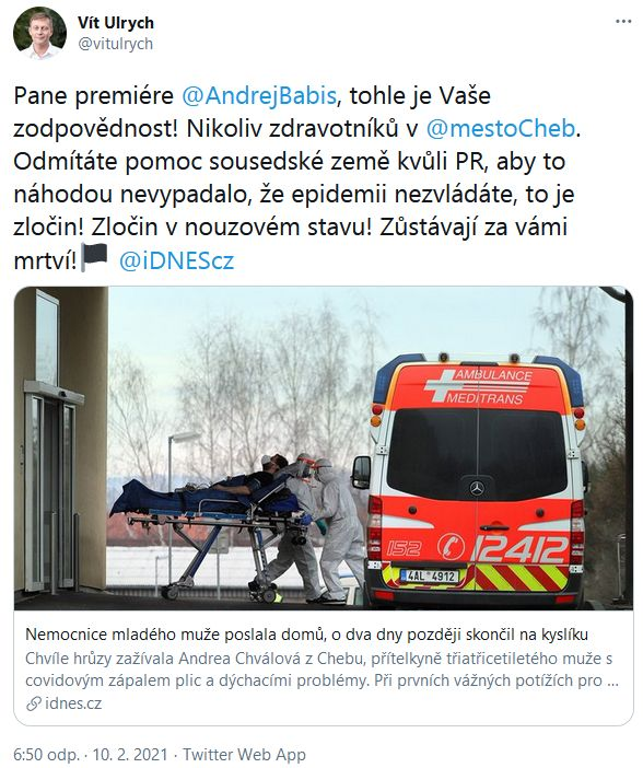 Tvrdá slova určená Andreji Babišovi: Je to vaše vina