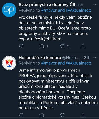 Podpora Ministerstva zahraničí ČR
