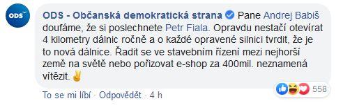 Andrej Babiš komentuje kongres ODS