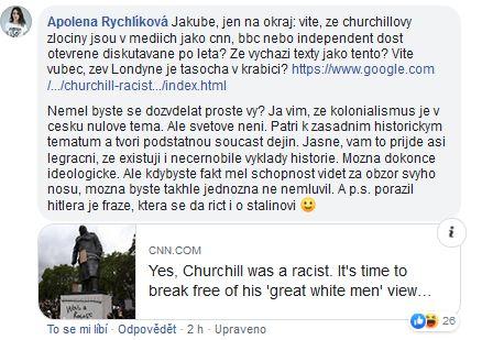 Apolena Rychlíková o Churchillovi