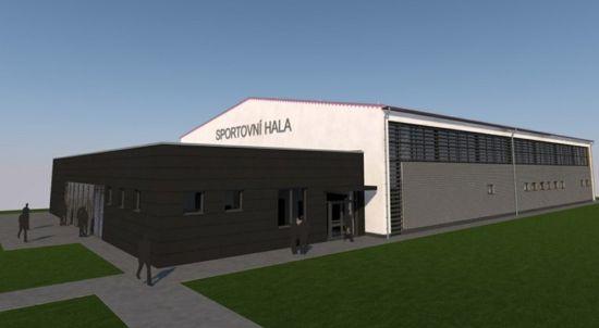 Vizualizace budoucí podoby nové sportovní haly v Krásném poli