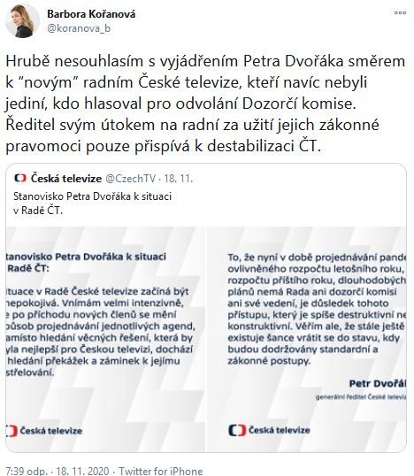 Situace v ČT
