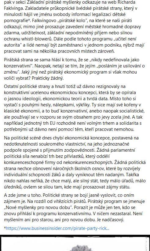 Institut svobody a demokracie promluvil o Pirátech