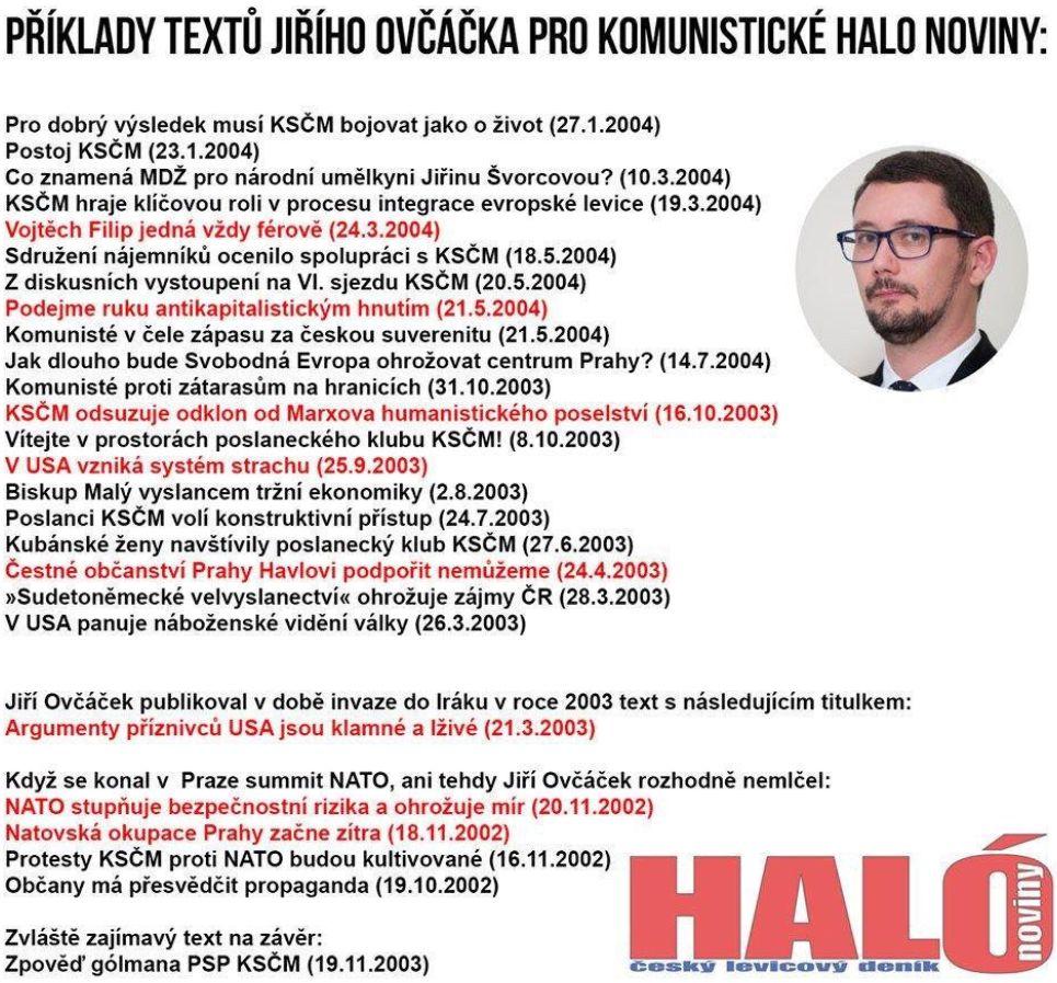 Reakce občana na slova Jiřího Ovčáčka