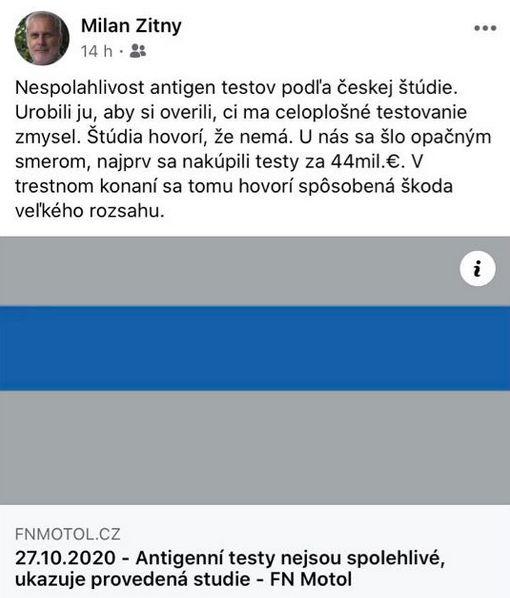 Nilan Žitný kritizuje slovenskou vládu