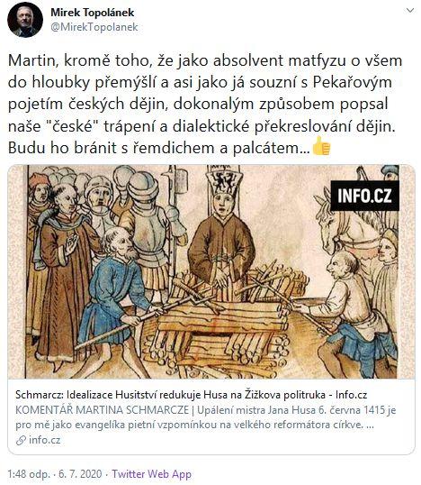 Topolánek o překreslování dějin
