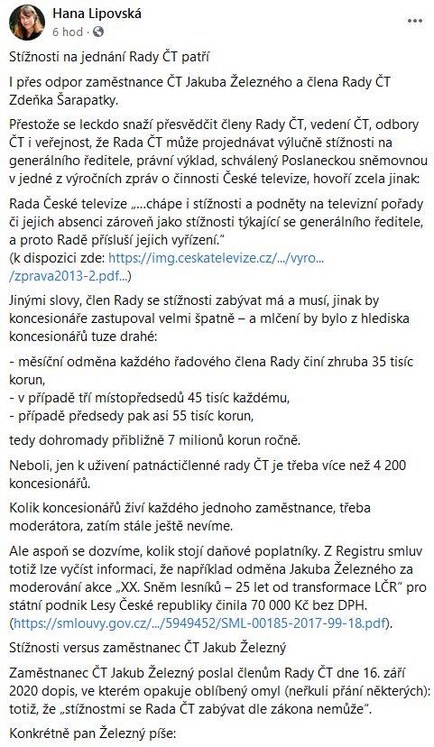 Hana Lipovská píše