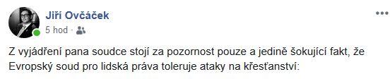 Jiří Ovčáček o soudu