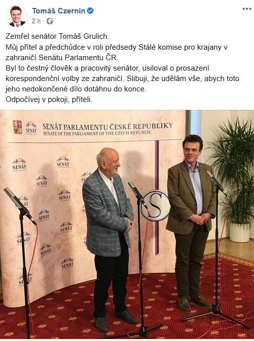 Zemřel Tomáš Grulich