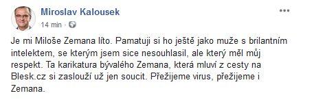 Miroslav Kalousek vrací úder
