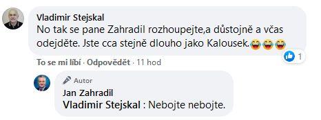 Jan Zahradil udeřil na Miroslava Kalouska