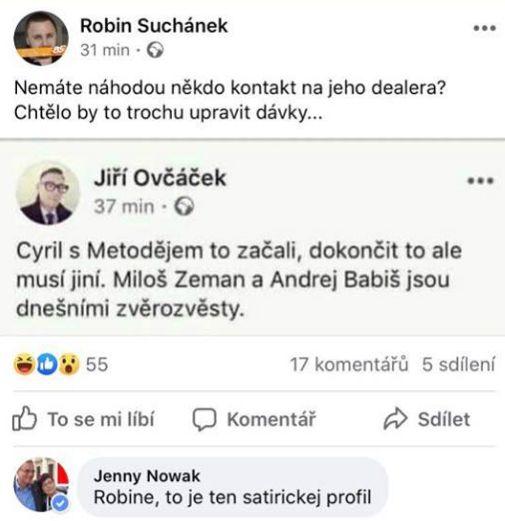 Robin Suchánek naletěl falešnému Ovčáčkovi
