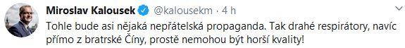 Miroslav Kalousek nemlčí