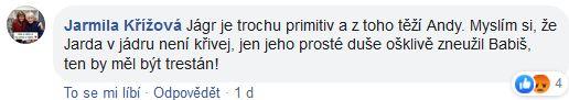 Vyjádření na adresu Jaromíra Jágra