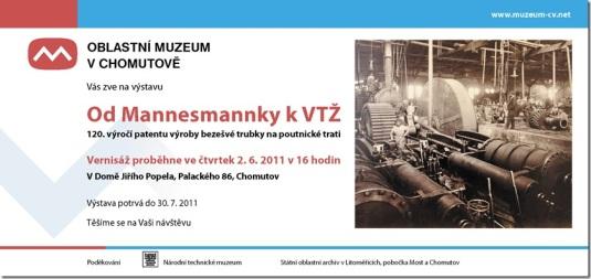 Od Mannesmannky k VTŽ - pozvánka