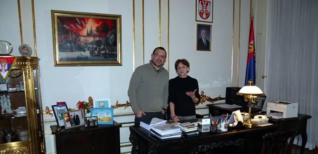 Jaroslav Foldyna se srbskou velvyslankyní