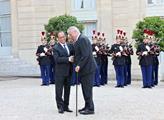 Miloš Zeman a Francois Hollande při státní návštěv...