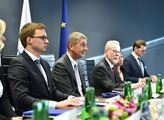 premiér Andrej Babiš v sídle agentury Frontex