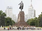 Proruská demonstrace na náměstí Svobody