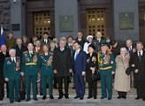 Prezident Miloš Zeman s válečnými veterány Rudé ar...