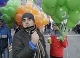 Průvod ke dni národní jednoty v Moskvě. Zúčastnilo...