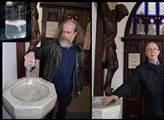 Milan Kohout rozlévá své sperma v kostele