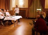 Robert Šlachta na předvolební kampani v Trutnově