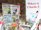 Vzpomínky na redakci časopisu Charlie Hebdo v ulic...