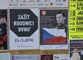 Plakáty zvoucí na Slavnostní odhalení pamětní desk...