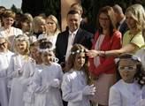 Polský Świebodzin, Květná neděle. Děti se připravu...