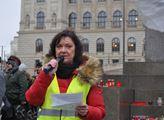 Manifestace se zúčastnila Marta Semelová