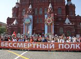 V Moskvě se včera konal pochod Nesmrtelného pluku....