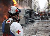 Bitka s policií v Paříži