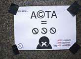 Protest proti dohodě ACTA o autorských právech na ...