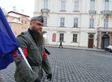 Akce válečného veterána Martina Zapletala před Pra...
