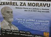 Plakát strany Moravané s Boleslavem Bártou