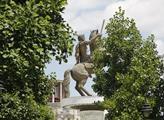 """Socha """"jezdce na koni"""" známá také jako socha Alexa..."""