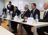Prezident Miloš Zeman v krajské nemocnici Tomáše B...