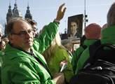 Holandští zelení se sešli před amsterdamským hlavn...