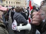 Na pražském náměstí Republiky se konala levicová d...