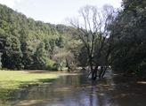Po vydatných deštích se rozvodnila řeka Třebůvka, ...