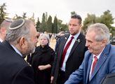 Prezident Miloš Zeman s manželkou v Izraeli