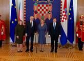 Přivítání chorvatskou prezidentkou Kolindou Grabar...