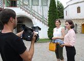 Proruská aktivistka Jelena Vičanová hovoří pro kry...