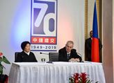 Prezident Zeman na české ambasádě v Pekingu