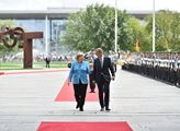 Andrej Babiš se setkal s Angelou Merkelovou