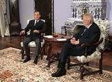 Miloš Zeman a Dmitrij Medveděv