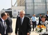 Prezident Zeman po přistání na pařížském letišti