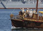 Den ruského námořnictva v Sevastopolu na Krymu